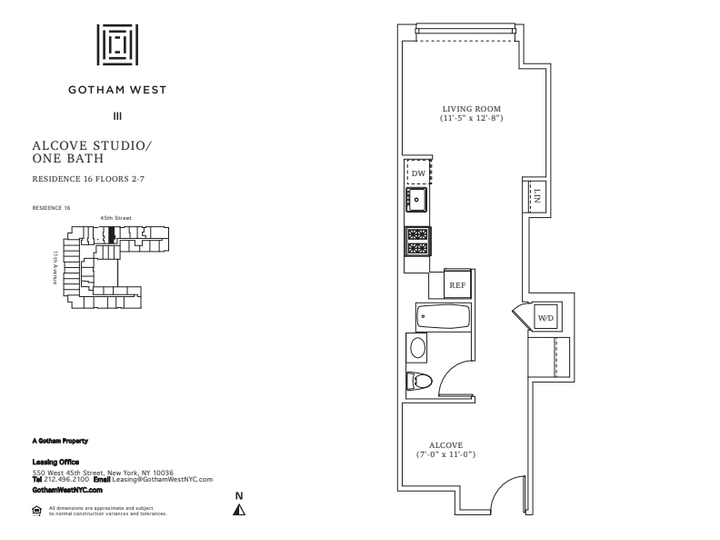 Gotham West #616 Floorplan