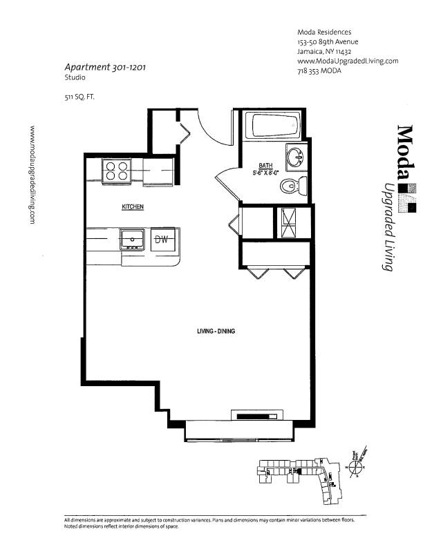 Floor plan for 1201