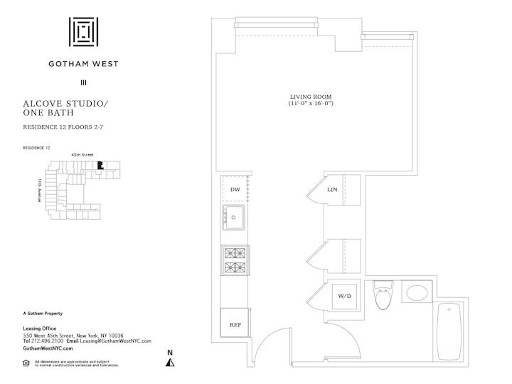 Gotham West #512 Floorplan