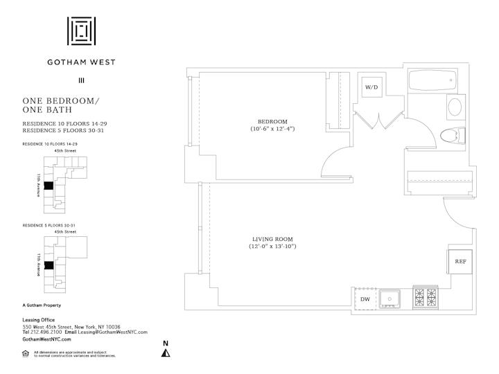 Gotham West #1810 Floorplan