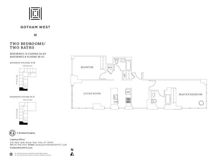 Gotham West #1613 Floorplan