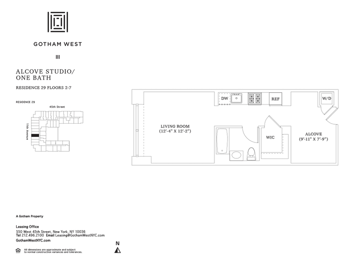 Gotham West #529 Floorplan