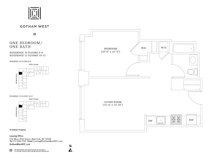 Gotham West #918 Floorplan