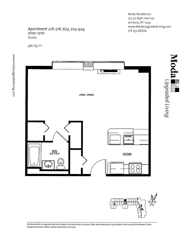 Floor plan for 416