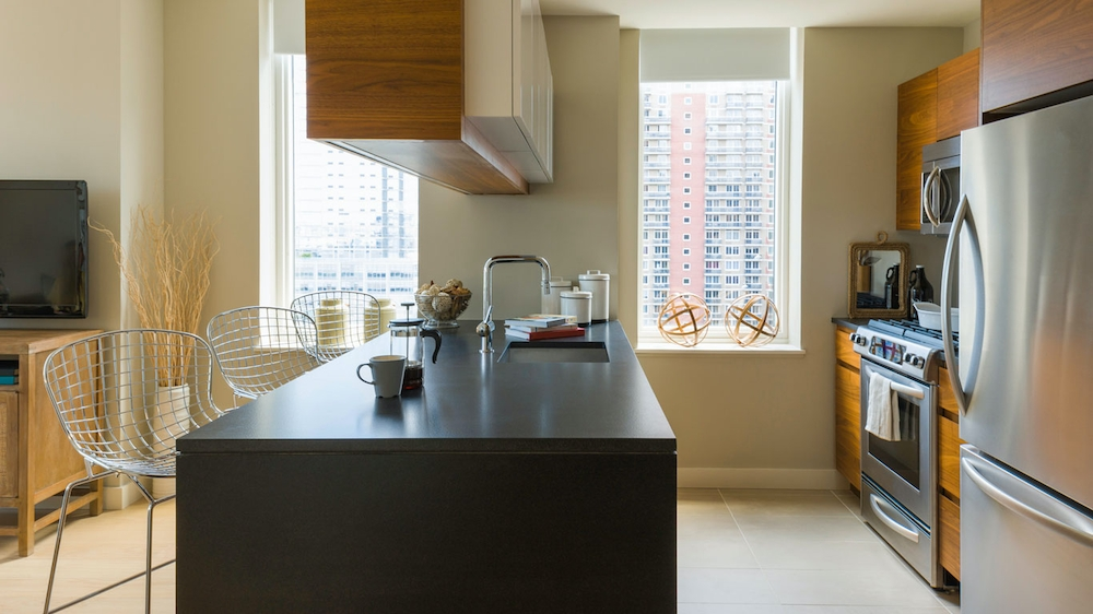 Gotham West: 2507 a kitchen with a sink and a window