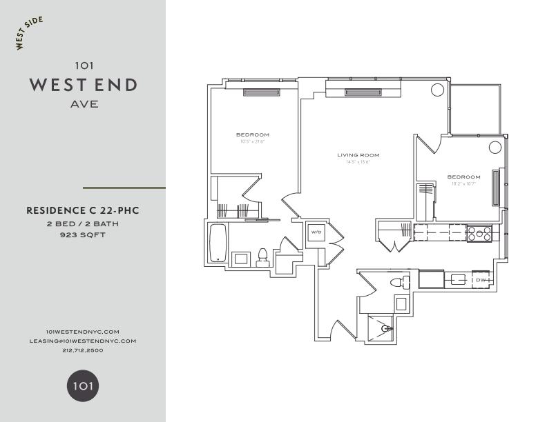 Floor plan for 22C