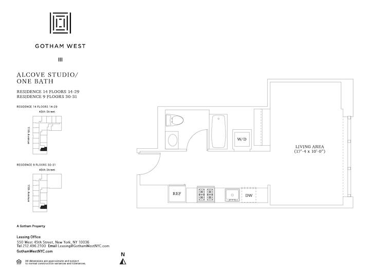 Gotham West #1414 Floorplan