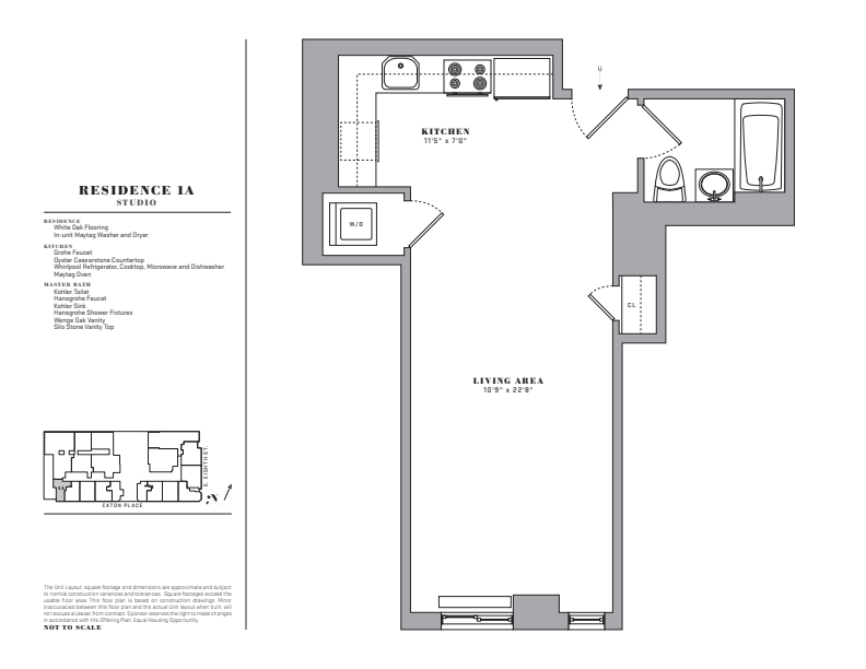 Floor plan for 1A