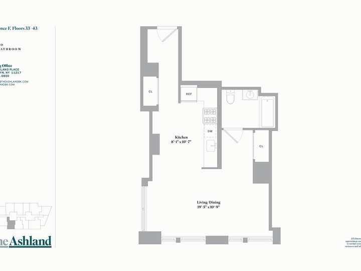The Ashland #37F Floorplan