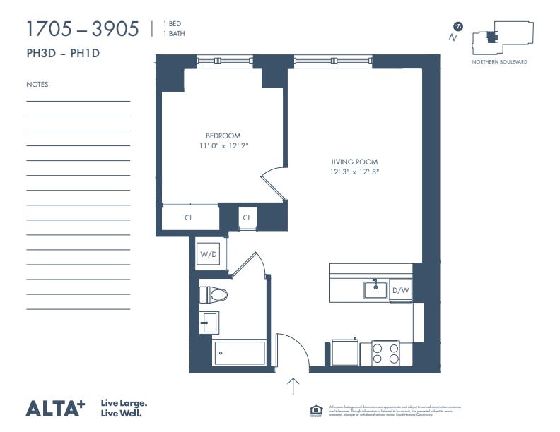 Floorplan of Unit #2805