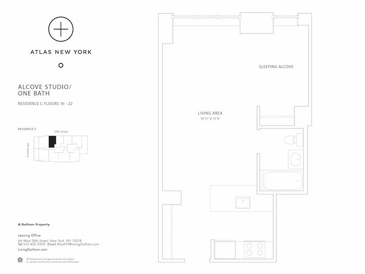 Atlas New York #17C Floorplan