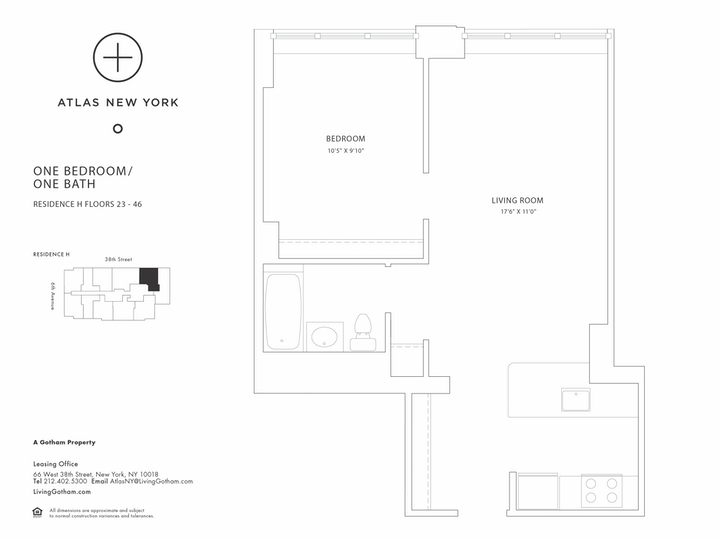Atlas New York #42H Floorplan