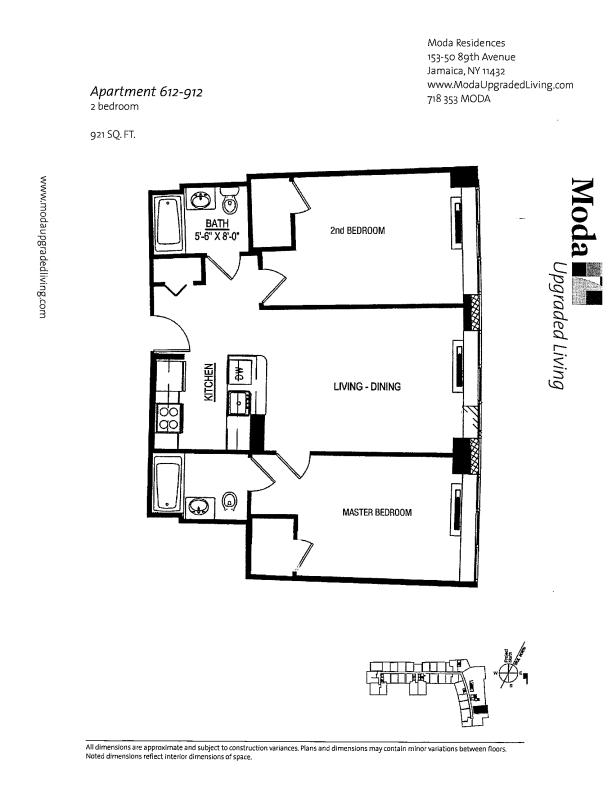 Floor plan for 612