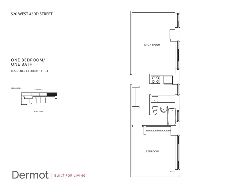 Floor plan for 19E