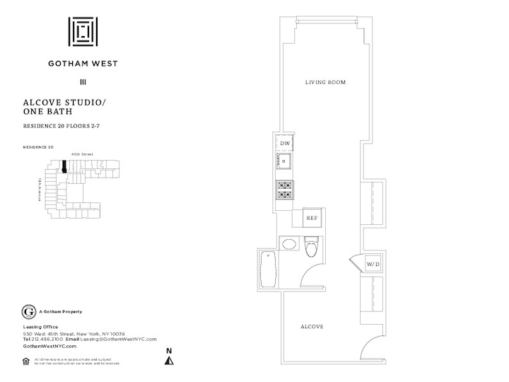 Gotham West #720 Floorplan