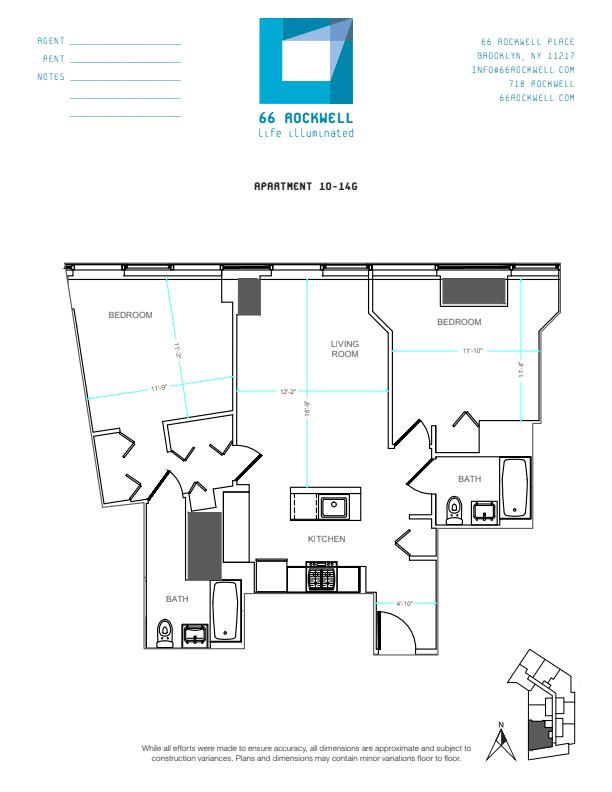 Floor plan for 11G