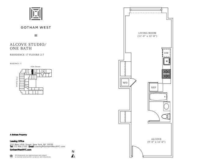 Gotham West #217 Floorplan