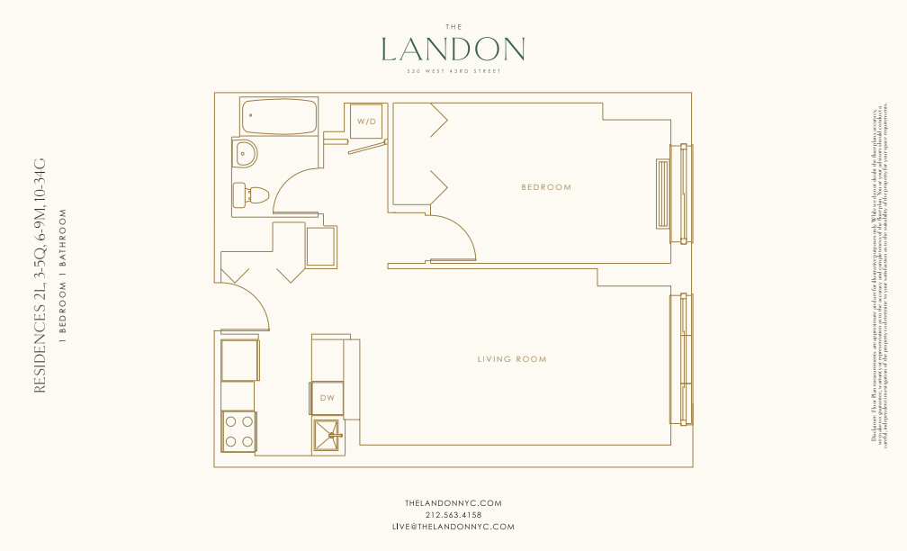 Floor plan for 34G