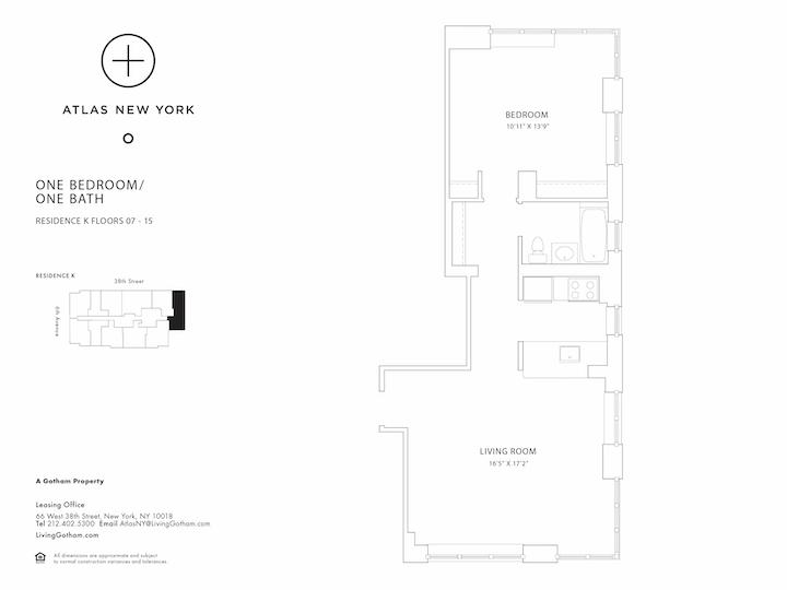 Atlas New York #11K Floorplan