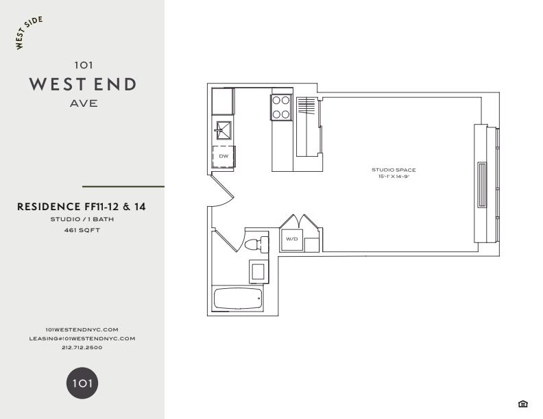 Floor plan for 14FF