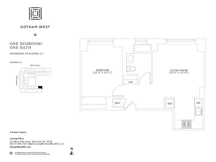 Gotham West #239 Floorplan