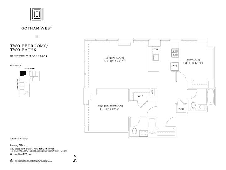 Gotham West #2107 Floorplan