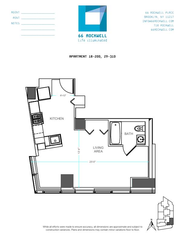 Floor plan for 20D