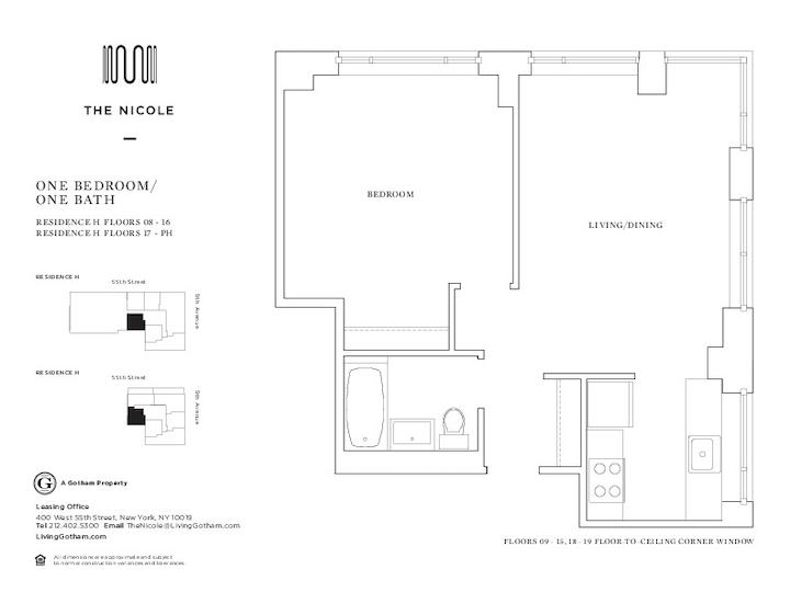 The Nicole #09H Floorplan