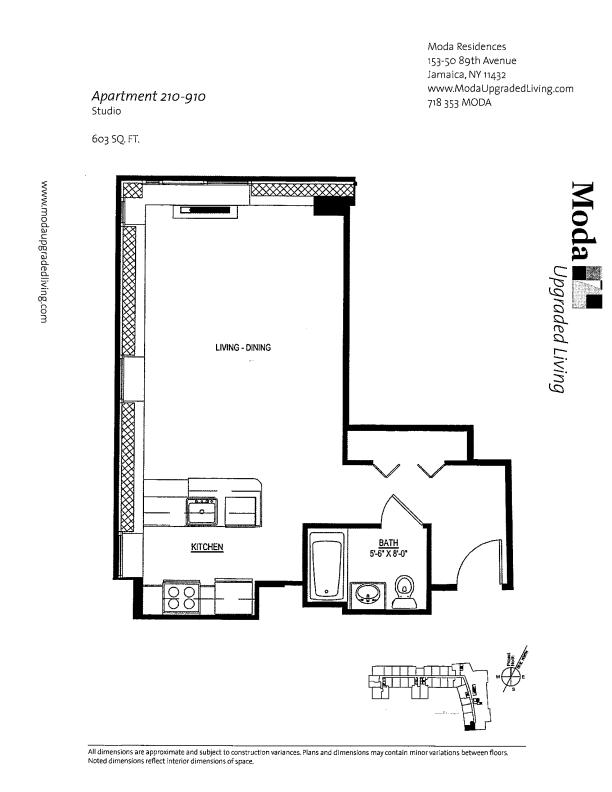 Floor plan for 810