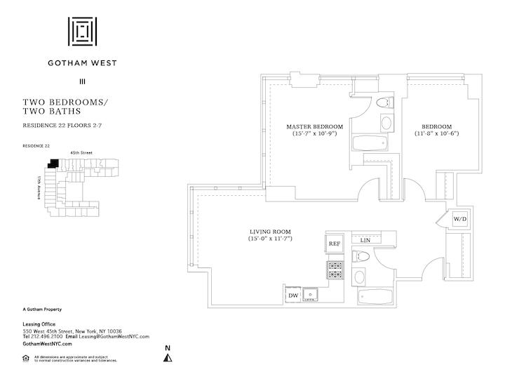Gotham West #422 Floorplan