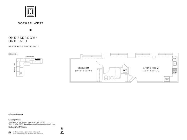 Gotham West #1208 Floorplan