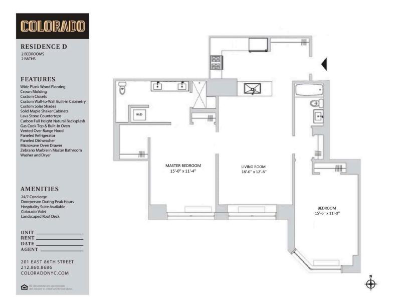 Floor plan for D16D