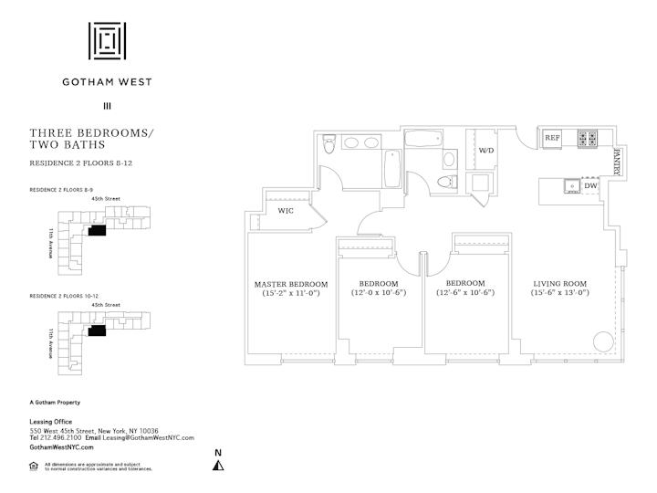 Gotham West #1002 Floorplan