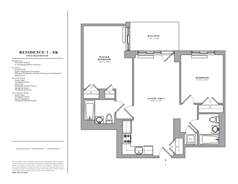 Floor plan for 7K
