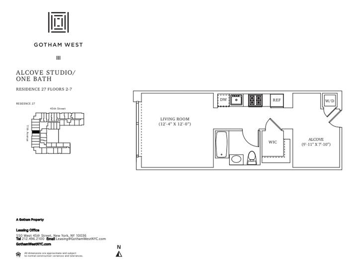 Gotham West #427 Floorplan