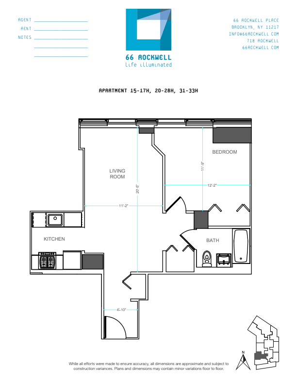 Floor plan for 22H