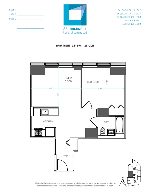 Floor plan for 18H