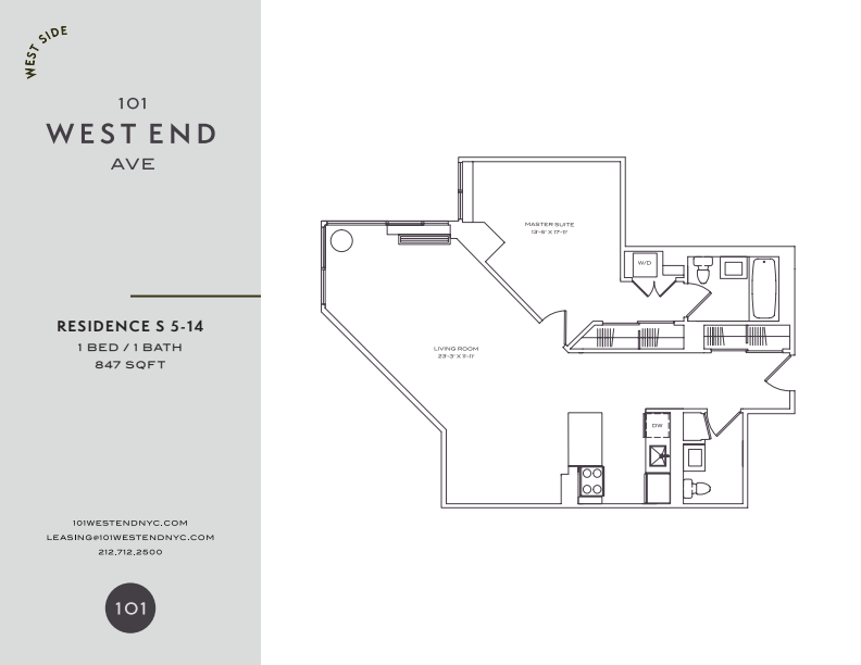 Floor plan for 6S