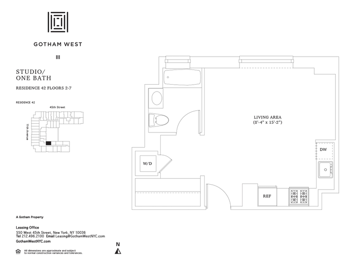 Gotham West #242 Floorplan