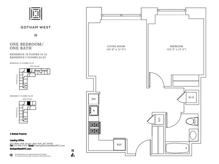 Gotham West #1112 Floorplan