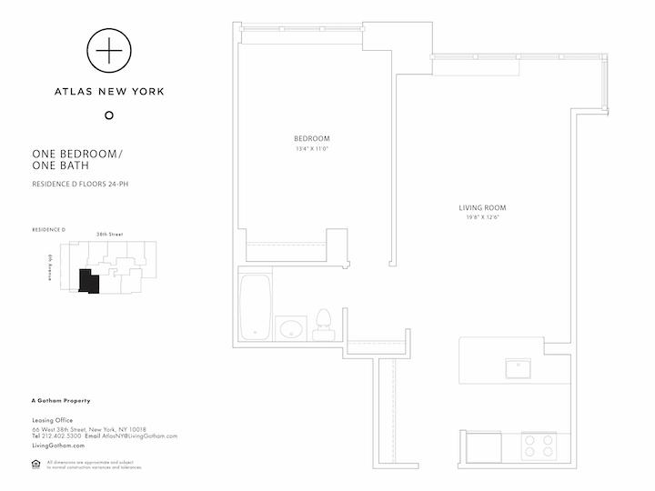 Atlas New York #45D Floorplan