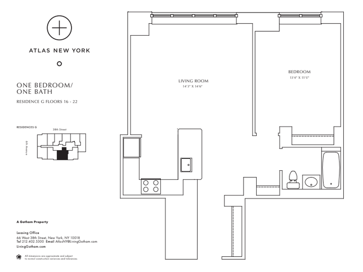 Atlas New York #20G Floorplan