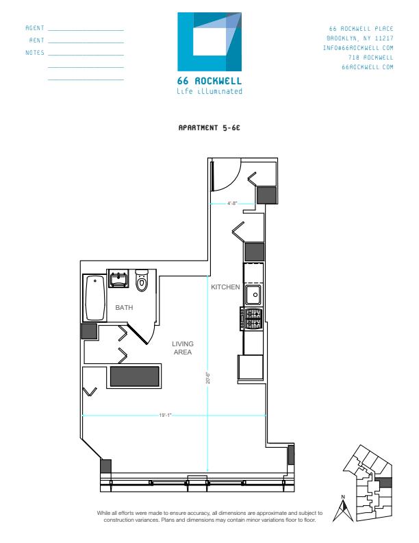 Floor plan for 5E