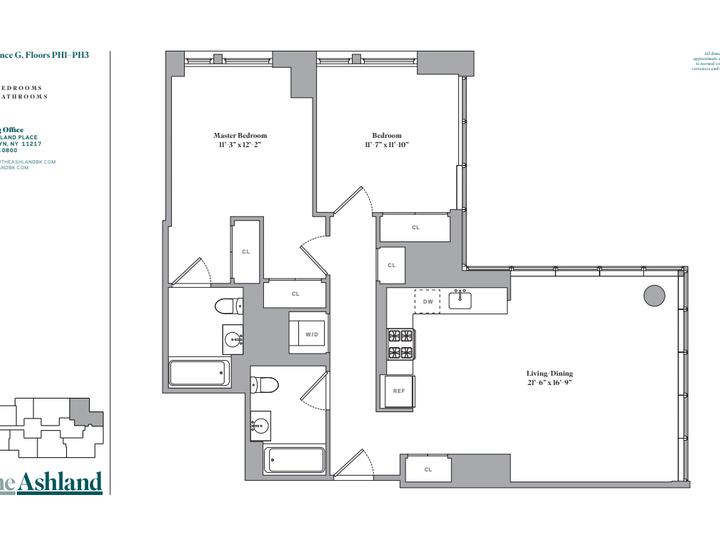 The Ashland #PH2G Floorplan