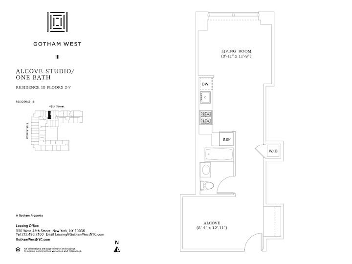 Gotham West #618 Floorplan