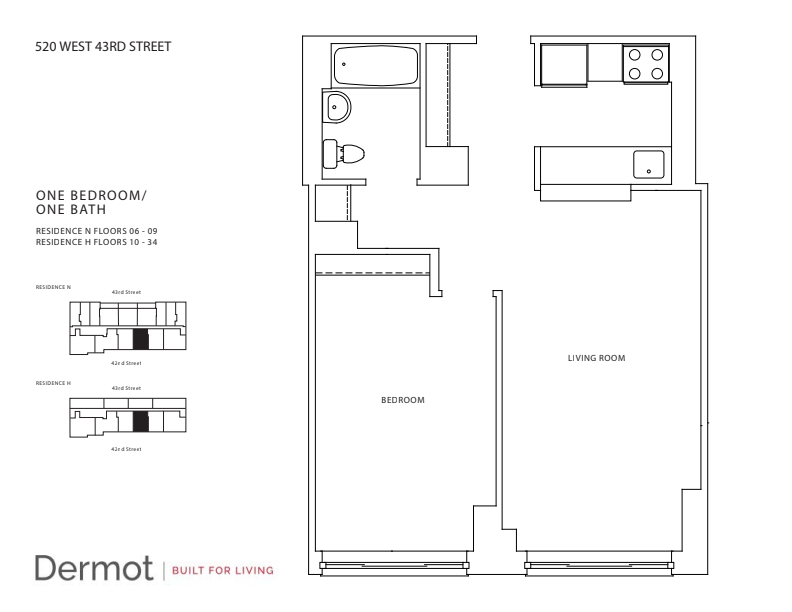 Floor plan for 26H