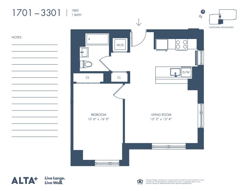 Floorplan of Unit #2801