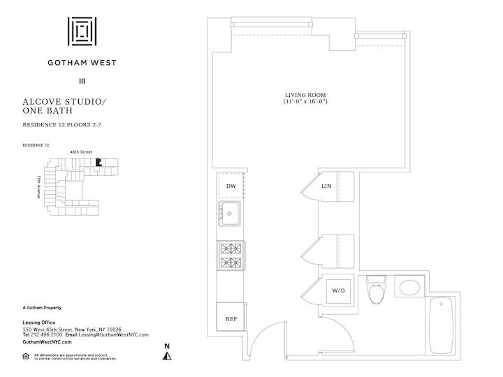 Gotham West #212 Floorplan