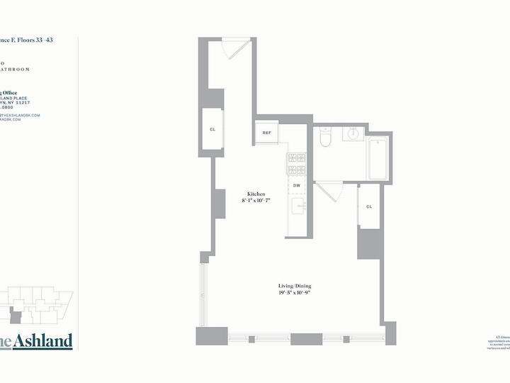 The Ashland #33F Floorplan