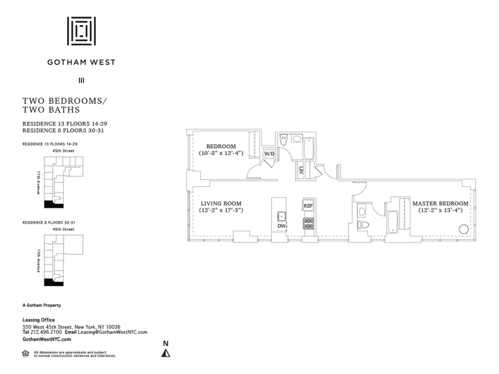Gotham West #2013 Floorplan